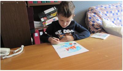 Внук рисует. Сентябрь 2020 года