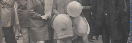 На первомайской демонстрации. 1972 год